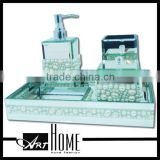 Hot sale hotel balfour ceramic bathroom accessories set/polyresin bathroom set/complete bathroom set                                                                                         Most Popular