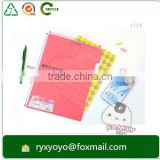 a4 size custom printed pp plastic L shape document clear file folder with inserts                                                                                                         Supplier's Choice
