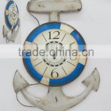 Decorative metal wall clock in anchor design, Anchor design metal wall clock for home decors, Wall decors anchor design clock