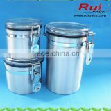 Aluminum facial cream jar with clear sealing cap, aluminum container for candy/cookies/dried fruit, aluminum pot/can