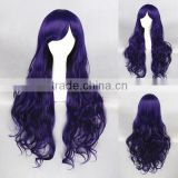 cheap wholesale 80CM medium wave purple women Lolita wave party wig