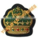 Bullion wire Hand EmbroideryPolice Army Navy Airforce Uniform Insignia Emblem Epaullette Visor Rank Chevron Patches