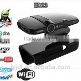 smart TV Box HD23 RAM 1GB ROM 8GB Android 4.4 OS Quad core internet smart tv box with webcam