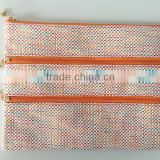 Osini profesional customed multifunction printed straw bag pencil pouch with zipper for Office & traveling