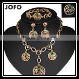 Fancy Design Silver And Gold Plated Jewelry Set For Party,Light Weight Gold Necklace Set African Gold Plating Jewelry Set