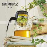 SAMADOYO 900ML New Design Heat-resisting Glass Tea Pots With Filter / Infuser / Strainer Free Sample Factory Price