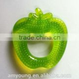 Apple Fruit Teether Wholesale Teeth Ring Silicone Pacifiers Baby Wing Chun Wooden Dummy Funny Baby Pacifier
