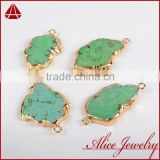 Fashion cheap christmas semi-precious natural gemstone gifts for best friends, 18k gold turquoise jewelry