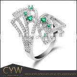 CYW latest products in market wholesale fashion cubic zirconias ss925 finger rings jewelry for women
