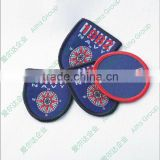 Wholesale direct factory custom woven fabric name button badge