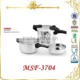 High-end stainless steel pressure cooker with spare parts--pot & steamer to one set MSF-3704