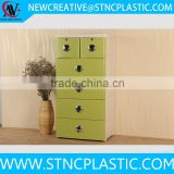 4 Drawer Dresser Natural Chest Colorful Bedroom Furniture Storage Teen Kids Room with pull handle