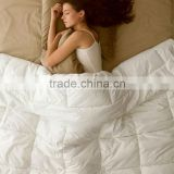White Colour Cotton Cover Polyester Fiber Quilt For Home / Hotel / Hospital