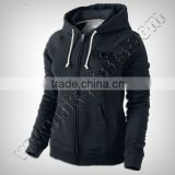 Black Women Hoodie With Zipper Produced with 100% Cotton Excellent & durable quality fabric,