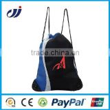 black promotional 190T polyester draw string bag small string bag wholesale reusable bags