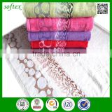 Solid color 100% bamboo bath towel sets luxury bath towel with jacquard border