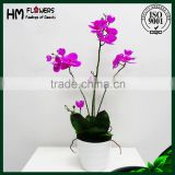 factory design artificial orchids phalaenopsis flower pot