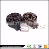 promotional Two colors braided rope belt for men