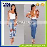 Wholesale in China casual stylish high waist trousers pants