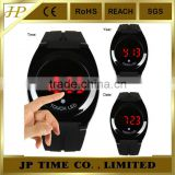 All Black Handsome Smart high quality Touch Screen hand watch LED Digital Date Rubber strap
