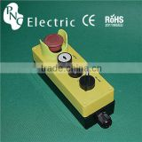LAY5-JBOS4444P mushroom/2 position selector/push flush button control box switch for lifting / Remote Control Switches