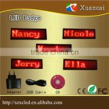 Inquiry about Multi function red color scrolling name led badge control by PC software and buttons