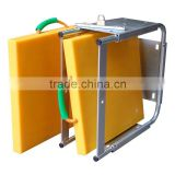 HDPE sheet for crane outrigger pad reducing the overall pressure being directed at the ground