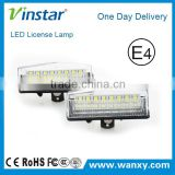 Car number license plate lamps white 18 LED lights bulbs for Toyota for Prius with E-mark CE ROHS certificates