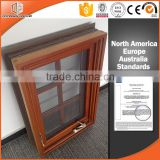 American style foldable crank handle aluminum clad wooden casement window by window manufacturer
