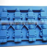 8 Cavity Lego minifigure silicone jelly chocolate ice cube cake mold tray