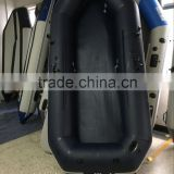 customized purplish blue inflatable rowing sailing boat with whole bottom protected