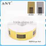 ANY Nail Art Salon Using Acyrlic Nails Making 500PCS per Roll Square Paper Nail Form                                                                         Quality Choice