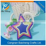 pretty star of rubber material shiny keychains as the famous festival presents of sky stars in wholesale of hot design