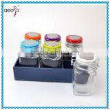 High quality hot selling decorative clip top food packaging glass jars and lids