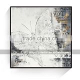 Abstract art Modern canvas Oil Painting with picture frame