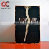 Popular show girls metal signs Bar and pub Decoration