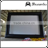 Commercial use inflatable cinema screen/inflatable projector movie screen for promotional