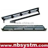 24 ports UTP Cat5e/Cat6 Patch Panel 19'' 1U, Krone & 110 Dual IDC, with or WT back bar