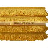 Wide Vertical slip Rayon Tassel Fringes Trimming for Home textill