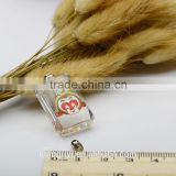 Twelve Chinese zodiac signs souvenirs 3D monkey K9 crystal pendant customised images rice art pendant for necklace