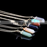 Natural Mixed Gems Stones Hexagonal Crystal fluorite Point Reiki Chakra Necklaces Earrings Pendant Beads Jewelry