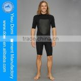 Men's Half Sleeves And Legs Neoprene Wetsuit With Back Zipper / Full Sexy Photos Swimwear