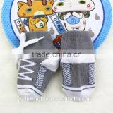 Customized fashionable style baby shoe socks with shoelace,made of cotton soft and breathable