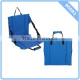 Blue Stadium Cushion Seat Padded Bleacher Folding Portable Sports Chair