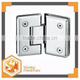 SH-135B Zinc alloy/SUS Mirror/satin square 135degree hotel DOOR clamp Shower door hinge Swimming pool Glass balustrade fitting