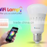 2016 Vstarcam wifi control rgb led bulb Remote Control 6W 20 million colors IOS Android Supported 50000hours