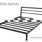Metal Bed Queen size with headboard black