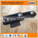 China Made Cheap Steel Chains for Amphibious Excavator with High Quality , 40Cr Steel Material, MAXWAY Machine Company