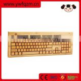 bamboo & wood mechanical gaming computer keyboard