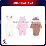 China hot sale best manufacturer Animal-shaped polar fleece baby romper